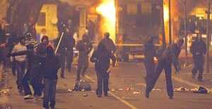 Rioting youths in Villiers-le-Bel, a northern Paris suburb