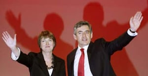 Harriet Harman and Gordon Brown on the day she was elected his deputy