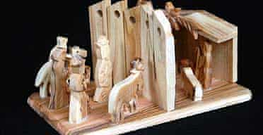 The walled nativity set, part of the 12 days of Kitschmas gift list