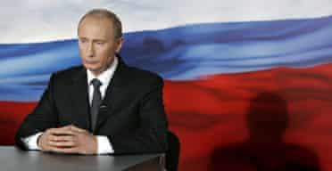 Vladimir Putin addresses Russian television