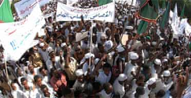 Protestors in Sudan