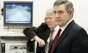 The prime minister, Gordon Brown, and the health secretary, Alan Johnson, visit the Royal Marsden hospital in central London as the government launches a five-year cancer strategy