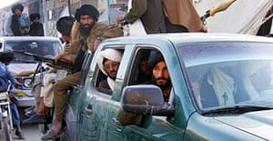 Taliban militans arrive in Musa Qala, to the south east of Afghan capital Kabul.