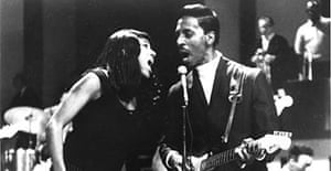 Tina and Ike Turner performing on stage in 1966.
