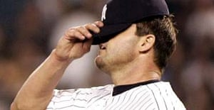 New York Yankees pitcher Roger Clemens who was named in the Mitchell report into drugs abuse in baseball
