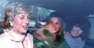 Princess Diana with Jemima and Lady Annabel Goldsmith