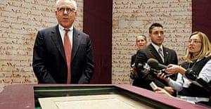 David Rubenstein with the Magna Carta