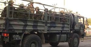 Turkish troops near Iraq border