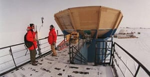 Scientists at the Amundsen-Scott South Pole base