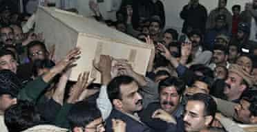 Benazir Bhutto's coffin.