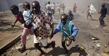 Family flees violence in Kenya