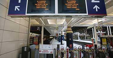 Deserted Liverpool Street station