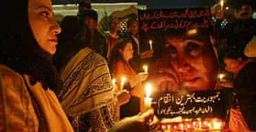 Candle vigil for Benazir Bhutto