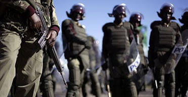 riot police in Kenya