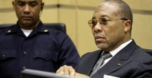Former Liberian president Charles Taylor in court in The Hague