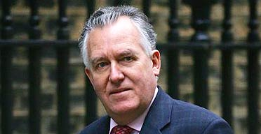The work and pensions secretary, Peter Hain, arriving at Downing Street