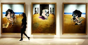 A Francis Bacon masterpiece, Triptych 1974-77, which is on sale in Christies Post War & Contemporary Art sale at in February 2008. It is estimated to make around £25 million pounds at auction