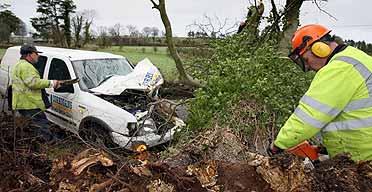 Wind damage in Northern Ireland