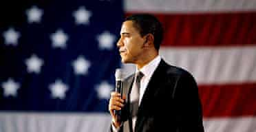 Democratic presidential candidate Barack Obama speaks at a rally at St Peter's College in Jersey City, New Jersey