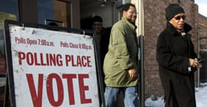 Polling station in Michigan