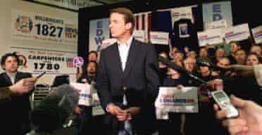 John Edwards campaigns in Las Vegas
