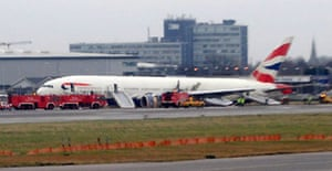 British Airways Boeing 777 plane at Heathrow