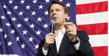 John Edwards speaks at a rally in Nevada on January 18.