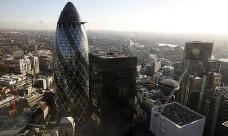 View of office blocks in the City of London