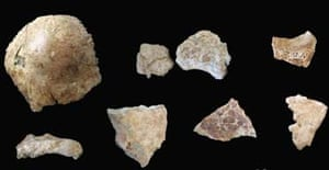 China skull fragments