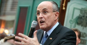 Rudy Giuliani speaks to supporters on January 23 in Naples, Florida