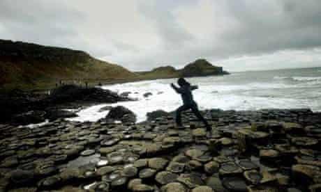 Giants Causeway on the Antrim Coast in northern Ireland