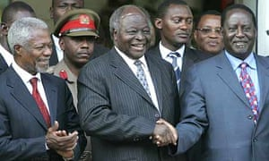 Kibaki, Annan and Odinga meet in Nairobi, Kenya