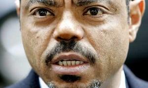 Ethiopia's prime minister, Meles Zenawi