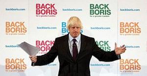 Boris Johnson addresses campaign supporters.