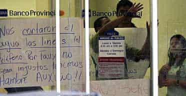 Hostages in the Venezuelan bank