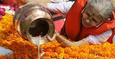 Gandhi's ashes