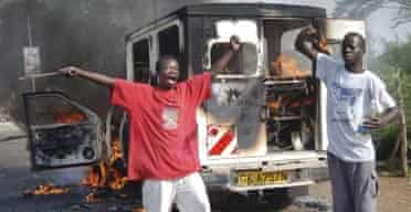 Opposition supporters in Kenya