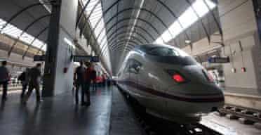 The Ave S103 train at Santa Justa Station, Seville