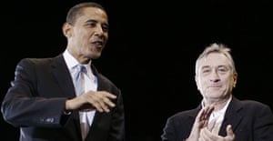 Barack Obama and Robert De Niro in East Rutherford, New Jersey