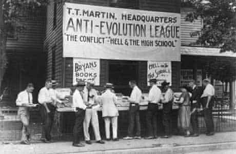 Anti-evolution books on sale in Dayton, Tennessee