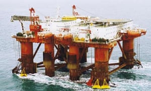 Safe Scandinavia oil rig in the North Sea