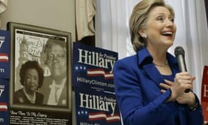 Hillary Clinton speaks at at the National Council of Negro Women Building in Washington. Photograph: Carolyn Kaster/AP