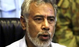 East Timor's prime minister, Xanana Gusmao
