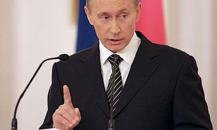 Russian president Vladimir Putin speaks during the state council session in Moscow