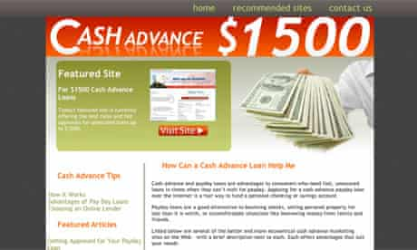 Cashadvance1500.com screengrab