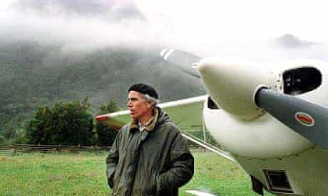 US millionaire conservationist Douglas Tompkins, who owns several million acres in Patagonia