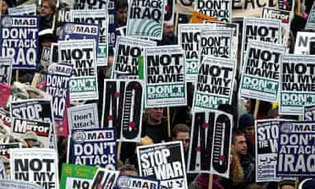 The Stop the War protest in London, February 2003