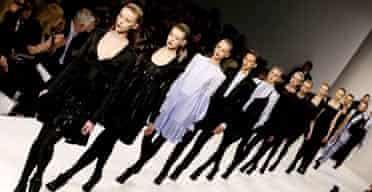 Models at London Fashion Week