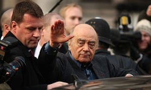 Mohamed Al Fayed leaving the High Court.