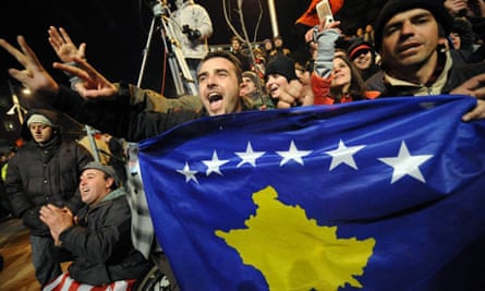 Kosovars celebrate independence with their new flag